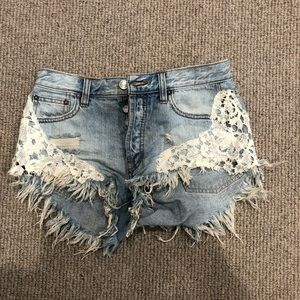 Free People demon cut off shorts